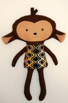 Little DeMoura Designs  Plush Monkey Rag Doll....... My friend makes these! The monkey is my favorite!
