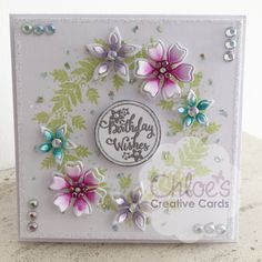 Chloes Creative Cards Craft, Cardmaking and Papercraft Supplies Christmas Sentiments, Card Sentiments, Chloes Creative Cards, Stamps By Chloe, Create And Craft Tv, Flower Birthday Cards, Snowflake Cards, Spellbinders Cards, Birthday Cards For Women