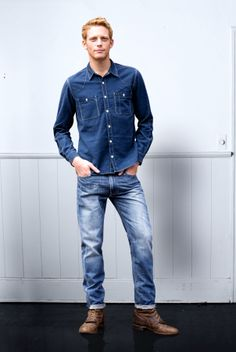 Denim! Denim Button Up, Button Up Shirts, Label, Blue, Clothes, Board, Fashion, Outfits, Moda