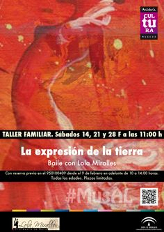 """Taller familiar """"La expresión de la Tierra: Baile con Lola Miralles"""" Sábado 24/02/2015 a las 11 horas."""
