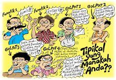 Tipikal yang manakah Anda? -- Editorial Cartoon Harian Rakyat Merdeka 2012 -- Mice Cartoon