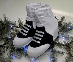 50's Saddle Shoe Skate Boot Covers / Figure Skating / Ice Skating / Roller Skating