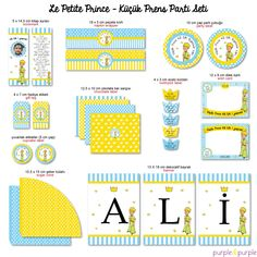 Le Petit Prince Küçük Prens Parti Seti | Printable Party | Le Petit Prince Party | Book Themed Party | Print al, kes, dekore et | DIY Birthday