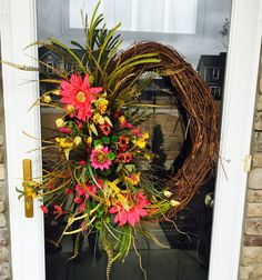 Oval Spring Grapevine Wreath