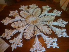 (Plastering) Final Decorative moldings complete to make a 42 inch ceiling rose from the 1850s