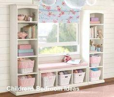 Girls Room Ideas: 40 Great Ways To Decorate A Young Girl's Bedroom – – bedroom storage Kids Bedroom Storage, Kids Storage, Storage Ideas, Toy Storage, Storage Design, Nursery Storage, Storage Room, Playroom Storage, Makeup Storage