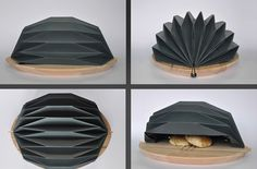 Sustainable Kitchen - This sustainable kitchen accessory combines functionality and design to upgrade any person's cooking space. The 'Jikka Bread Basket. Folding Architecture, Architecture Concept Drawings, Pavilion Architecture, Origami Shapes, Origami Patterns, Kitchen Organization, Kitchen Organizers, Industrial Design Sketch, Art Japonais