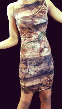 Camo dress by NoFashionDeadline on Etsy $70