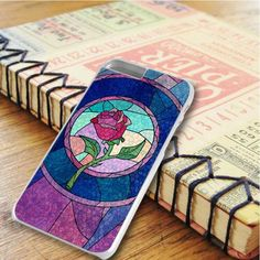 Disney Princess Beauty And The Beat Rose Stained Glass iPhone 6 Plus|iPhone 6S Plus Case
