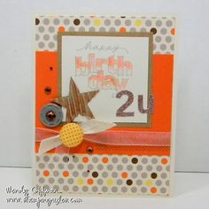 Stamping Rules!: Ten Things Letter Stickers birthday card CTMH