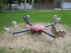 vintage playground equipment | Old Playground Equipment Spring Toy | Flickr - Photo Sharing!