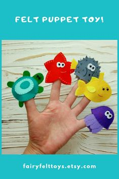 Felt toy, dollhouse, puppet toy, doll with clothes. Felt Puppets, Puppet Toys, Felt Finger Puppets, Puppet Crafts, Cardboard Crafts, Hand Puppets, Felt Crafts Kids, Toddler Crafts, Finger Puppet Patterns