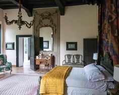 The Italian villa which is the setting for Luca Guadagnino's Oscar nominated film 'Call Me By Your Name'. The fabrics in the villa are by @dedarmilano . theworldofinteriors