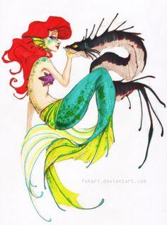 Little Mermaid by *Fukari on deviantART