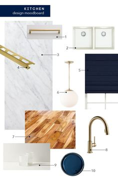 The final big kitchen makeover post + Get The Look - Emily Henderson The final big kitchen makeover post featuring Schoolhouse Electric brass hardware and pendants Big Kitchen, Kitchen And Bath, Kitchen Sink, Kitchen Wood, Granite Kitchen, Country Kitchen, Kitchen Ideas, Home Interior, Interior Design Kitchen