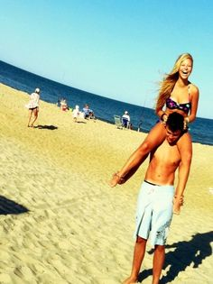 Very young teen couple beach something is