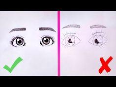 КАК НАРИСОВАТЬ ГЛАЗА? ✎ УРОК РИСОВАНИЯ ✎ Основные Ошибки ✎ КАК НАУЧИТЬСЯ РИСОВАТЬ - YouTube