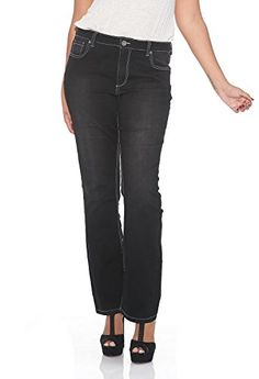 Suko Jeans Plus Size Boot Cut Jeans for Women 17378 BLACK 22 * Check this awesome product by going to the link at the image.