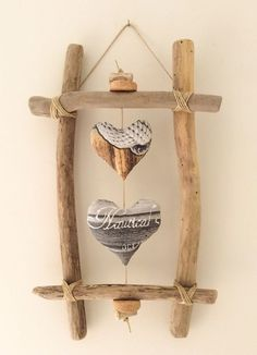Driftwood: 21 DIY inspirations to integrate it into your decoration - best . - Driftwood: 21 DIY inspirations to integrate it into your decoration – best decorating ideas – # - Driftwood Frame, Driftwood Projects, Diy Projects, Driftwood Ideas, Beach Crafts, Diy And Crafts, Arts And Crafts, Diy Inspiration, Creation Deco