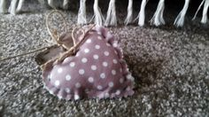 Fabric Hearts on a wooden stick by AnEllieCreations on Etsy