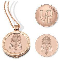 love & dream catcher mi moneda pendant