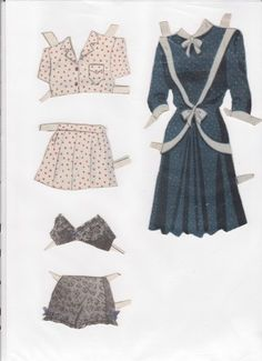 Danish Woman paper doll 6.....SET-60