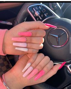 Bling Acrylic Nails, Drip Nails, Simple Acrylic Nails, Aycrlic Nails, Summer Acrylic Nails, Best Acrylic Nails, Swag Nails, Pink Nails, Cute Nails