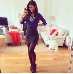 Outfit azul eléctrico