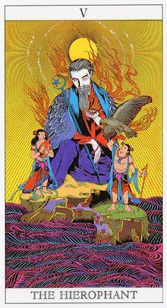 Love and Mystery Tarot by Yoshitaka Amano: The Hierophant