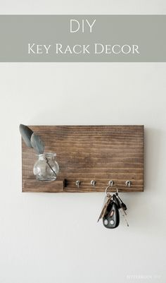 DIY Entryway Shelf with hooks | organize your keys and add some entryway decoration with this easy entryway shelf from Bitterroot DIY #entrywaydecor #organization #keyrackideas #shelfwithhooks
