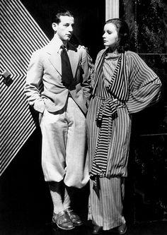Costume Designer Adrian & Greta Garbo, 1930's