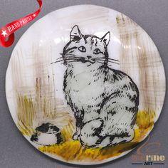 CHARMING FRIDGE MAGNET CAT WALL DECOR DIY WHITE STONE ZR3000008 #ZL #FridgeMagnet