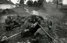"5sswiking: ""With their 3.7 cm Pak 36 anti-tank gun in position and loaded, the Waffen-SS gun crew opens fire on a distant target on the Eastern Front in 1941. """