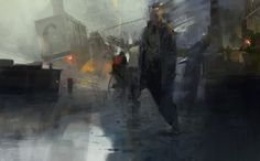 To The Vanishing Point: The Obscure Broken Worlds Of Artist Sergey Kolesov Sergey Kolesov, Cyberpunk, Sci Fi City, Digital Painting Tutorials, Digital Paintings, Oil Paintings, Digital Art, Vision Quest, Vanishing Point
