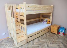 ŁÓŻKO PIĘTROWE EXCELLENT pod materace 90x200 Zaczarowana Sypialnia