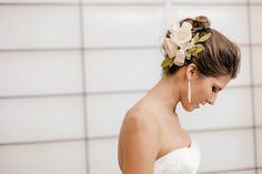 wedding hair floral decor