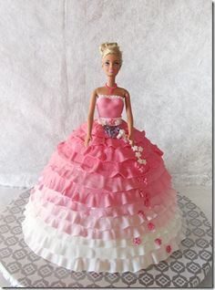 "Torta Barbie..My mom called these ""Doll Cakes"".  This brings back fun memories of my childhood.  She used to make these for my birthdays."