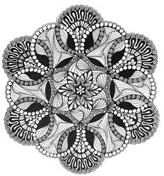 This Flicker site leads you to many other Zentangle sites