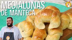 Tenedor Libre - Medialunas de Manteca Media Luna, Argentina Food, Deli Food, Fluffy Pancakes, Pan Dulce, Sweet Pie, Bread And Pastries, Dinner Rolls, Empanadas