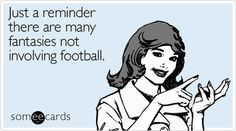 All women with Fantasy Football Partners can feel related... Hehehhe