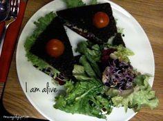raw tomato-bread at cafe gratitude, munich