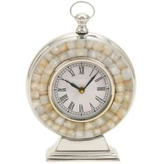 Mother of Pearl & Silver Clock.