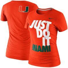 Nike Miami Hurricanes Women's DNA T-Shirt - Orange, $24.95