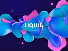 Liquid Shape 04 designed by HelenStock. Connect with them on Dribbble; Web Design, Graphic Design Fonts, Shape Design, Layout Design, Photoshop Design, Banner Design Inspiration, Shape Posters, Fluid Design, Psy Art