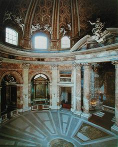 Gian Lorenzo Bernini. San Andrea del Quirinal, Roma. Interior.