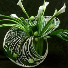 This is Ikebana. I really like this style, simple. Contemporary Flower Arrangements, Beautiful Flower Arrangements, Unique Flowers, Beautiful Flowers, Deco Floral, Arte Floral, Ikebana Arrangements, Floral Arrangements, Flower Show