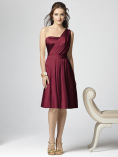 Bridesmaids dress - Dessy Collection Style 2862 - burgundy (maybe that also comes in floor-length?)