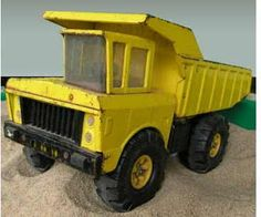 Who didn't get under their parents feet by whizzing around with this classic yellow Tonka truck #PastPresents #TonkaTruck #vintage #retrotoys #gifts