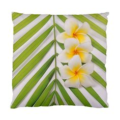 2 SIDE PRINT~FRANGIPANI PALM DISPLAY~IN/OUTDOOR DECOR CUSHION CASEACCENT COVER~