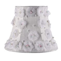 heavenly-lights.com - White Petal Flower Chandelier Shade, $33.00 (http://www.heavenly-lights.com/2056-White-Petal-Flower-Chandelier-Shade)